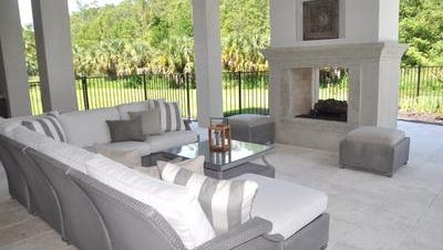This model for the Marigot II home by Castle Harbour Homes opened in Quail West last month.