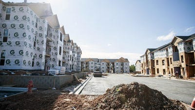 The apartment vacancy rate in the Asheville area stands at 1 percent, and despite new units coming online, including The Avalon, here under construction last year, the need remains high.