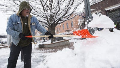 You could be doing this again Tuesday morning, as Fort Collins is expected to see up to nearly 5 inches of snow Monday night. This photo is from last week's snow.