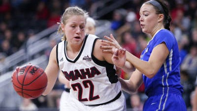 UNO's Mikaela Shaw leads the Mavs in points, rebounds and assists.