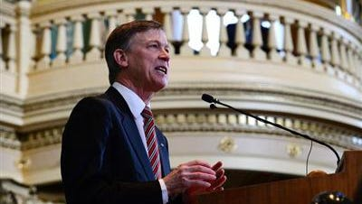 Gov. John Hickenlooper on Thursday asked a divided legislature for a major overhaul in how the state spends money, outlining a plan that would shift taxpayer refunds in the next two years toward