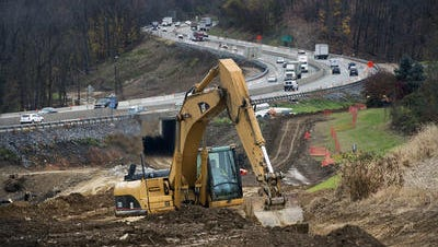 Among local PennDOT projects, work has continued on the improvements at the Mount Rose Avenue interchange of Interstate 83 in Springettsbury Township.