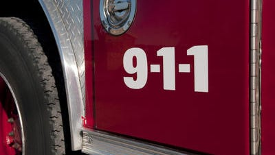 Emergency responders are at the scene of a Clinton Township house fire.