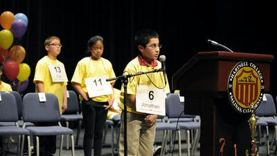 Salinas-area students compete in the Countywide Spelling Bee in 2013.