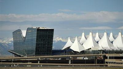 """Three people were taken by ambulance to a hospital and 27 others were evaluated for injuries after a train at the Denver International Airport abruptly stopped and """"jolted"""" passengers, officials said Saturday."""