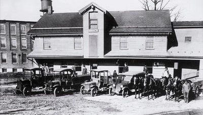 This is a rare and interesting photo of Wolf Supply in Mount Wolf, an iconic York County business with its beginnings in Saginaw and Mount Wolf. This lumber yard and building supply business grew into an interstate chain in the latter part of the 20th century, under ownership of The Wolf Organization.