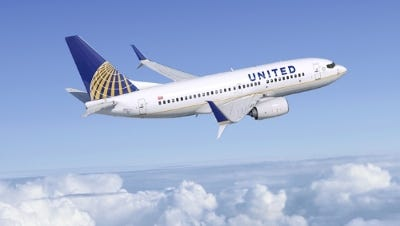 The Boeing 737 is an example of the larger aircraft United Airlines is returning to operate at Cincinnati/Northern Kentucky International Airport.