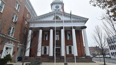 Franklin County Courthouse on Memorial Square, Chambersburg.