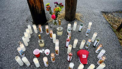 A makeshift memorial set up for William Terrell, who was shot to death on Nov. 20, 2013, in West York.