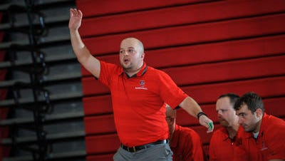 Hunterdon Central's Mike Falco is the Courier News Boys Basketball Coach of the Year.