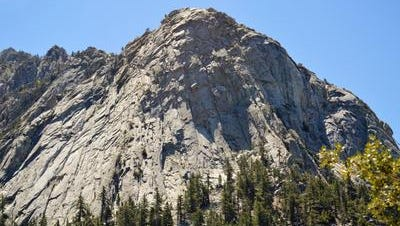 This Desert Sun file photo shows Tahquitz Rock, east of Idyllwild. Access to Idyllwild from the Coachella Valley will be limited to Highway 74 from Palm Desert through Dec. 14, Caltrans said.