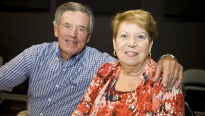 Former Gloucester Township Mayor Sandi Love is shown with her husband Al in a July 2012 photo.