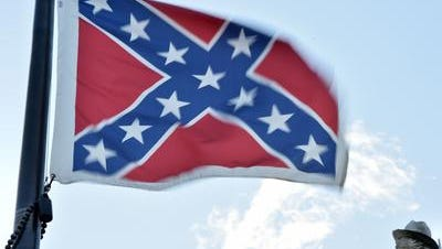 A Confederate flag flies in Columbia, South Carolina, in a 2015 photo.