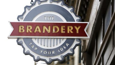 Exterior shot of The Brandery on Vine Street in Over-the-Rhine. The Brandery just announced its class of 12 startups that will participate in a four-month program to help build their brands.