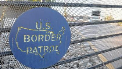 The US Border Patrol sign is seen on a fence at the border area in Nogales city in Santa Cruz County, Arizona, USA, 10 June 2014. Almost 1,118 underage young immigrants coming from Central America are under protection of US Border Patrol.