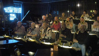 The Blue Wisp Big Band played at the Blue Wisp Jazz Club for 35 years until it closed