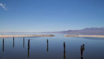 The Salton Sea is shown in this Desert Sun photo from July. The South Coast Air Quality Management District issued an odor advisory Friday for the Coachella Valley due to elevated levels of a gas that smells like rotten eggs.