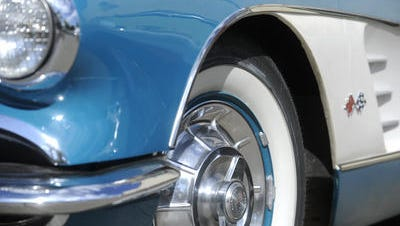 A 1958 Corvette during Hot Summer Nites in Sioux Falls.