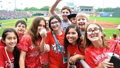 In June, the Rockland Boulders hosted a game for students from 26 schools, and showcased an anti-bullying message for the crowd of more than 6,000, kids at Provident Bank Ballpark in Ramapo. South Orangetown sixth-grader Mia Markiet (center, holding foul ball) said she sticks up for herself when bullied.