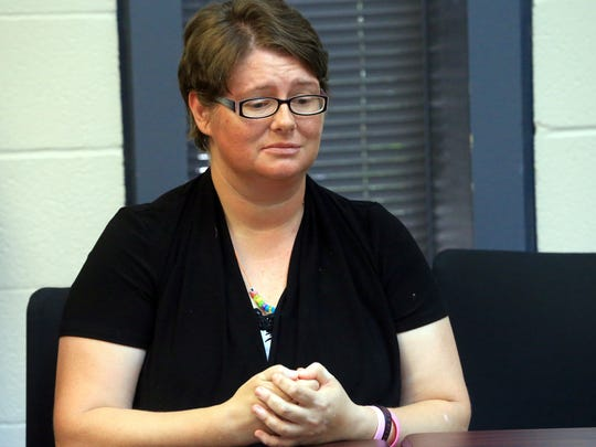 Marleigh Martinez talks about how her program might get cut by President Trump's policies on Tuesday, May 30, 2017, at Jim Wells County Sheriff Department in Alice.