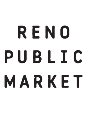 "New logo for Reno Public Market, formerly Shoppers Square. The ""+"" marks framing the new name symbolize positivity as well as the two major cross streets; Plumb Lane and South Virginia Streets, according to a news release."