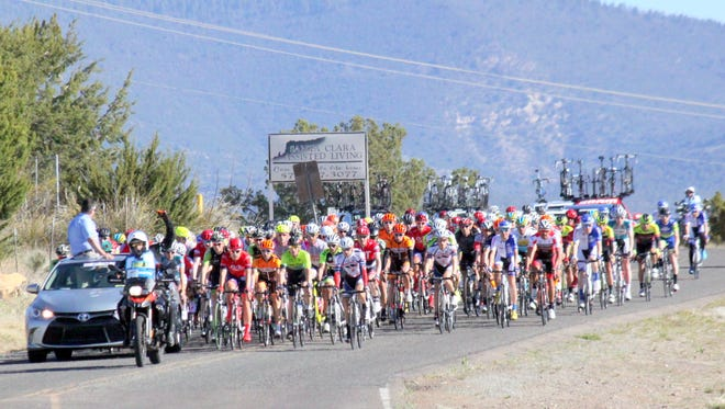 The Tour of the Gila will feature five stages througout five days. There is 18 professional men's teams and 10 women's. Thursday's Inner Loop Road Race, as seen above, starts in historic Fort Bayard and ends there.