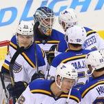 The St. Louis Blues congratulate St. Louis Blues goalie