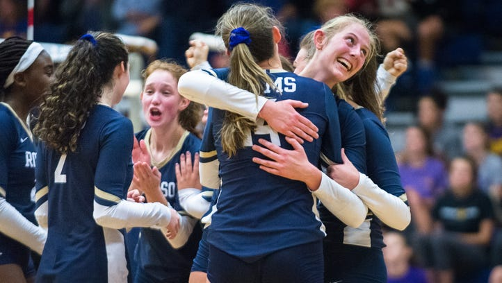 Roberson defeats West Henderson in five sets for conference tournament title