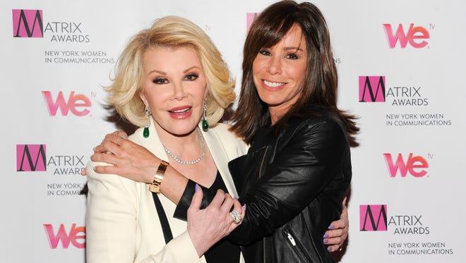 Joan Rivers and daughter Melissa Rivers in April 2013 in New York.