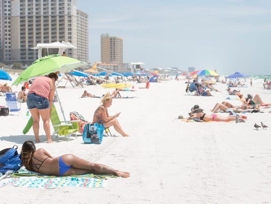 Pensacola Beach tourists