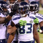 WR Ricardo Lockette (83) earned a ring with the 2013 Seahawks.