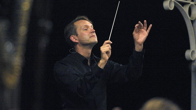 Bruce Kiesling, pictured, during the Tulare County Symphony performance.