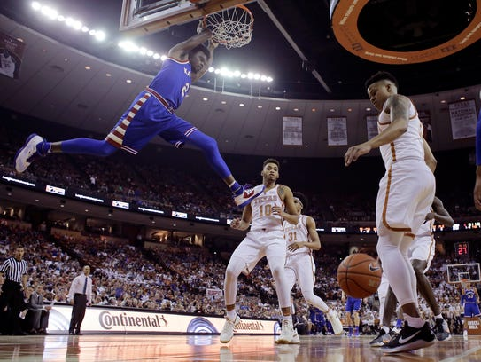 Kansas is putting itself in position for another Big 12 title run and LaGerald Vick (left) will play a key role.