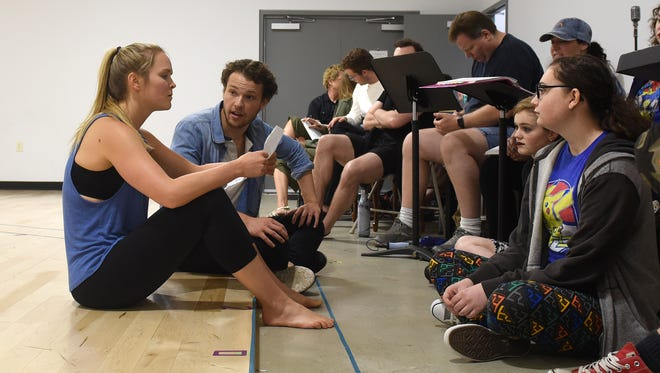 Whitney Noelle and Colin Robertson rehearse for Weathervane Playhouse's production of South Pacific on Friday, June 23, 2017. The show opens on Thursday, June 29 and runs through Saturday, July 8.