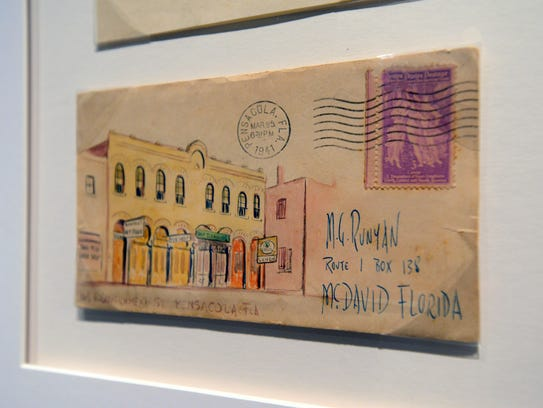 An example of the envelopes on display at the T.T Wentworth