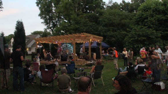 Butch Zito used his Delaware Division of Arts fellowship money to build a stage in his backyard. He held his inaugural show this summer.