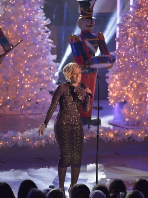 Mary J. Blige performs during the Rockefeller Center Christmas Tree Lighting Ceremony on Dec. 4 in New York.