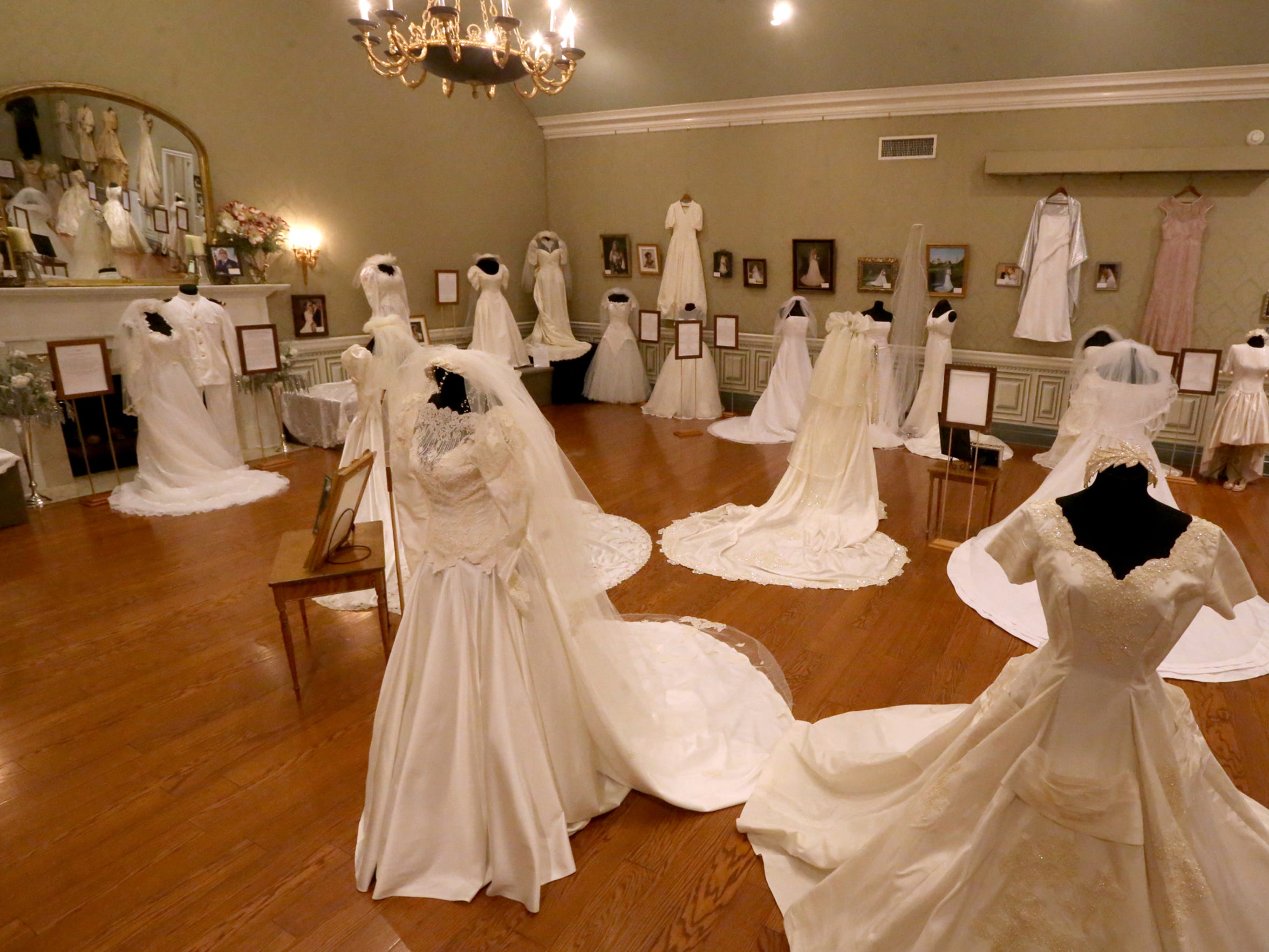 """JAN. 21-MARCH 3: Oaklands Mansion, 900 N. Maney Ave. in Murfreesboro, presents the annual """"Wedding Dresses Through the Decades"""" on exhibit Jan. 21 through March 5. Vintage gowns from the past 100 years will be on display, including Barbara Mandrell's 1967 gown which was handmade by her mother, and the white naval uniform worn by her husband, Ken Dudney. Admission: $10 and museum tours are available at regular rates during regular museum hours and combination tickets for the exhibition and house tours are available at a reduced rate. For more information, contact Mary Beth Nevills at Oaklands 615-893-0022 or email mb@oaklandsmuseum.org."""