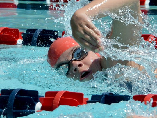 Taylor Hubbard, now a junior at Wilson Memorial, swam for SMAC for four years before giving it up this past fall. This is Hubbard three years ago in the 400 meter freestyle during the Commonwealth Games of Virginia at War Memorial Pool in Waynesboro on Friday, June 27, 2014.
