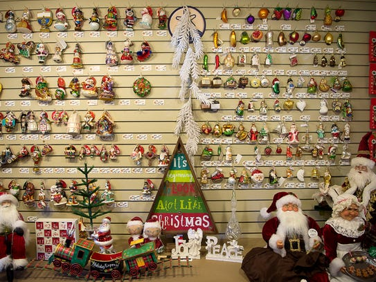 Ornaments of all shapes and sizes are on display at