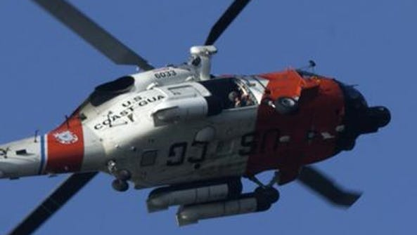 The U.S. Coast Guard airlifted a cruise ship passenger