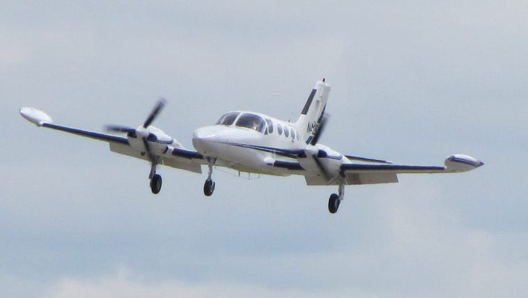 Cessna421B landing, this was the type of aircraft the