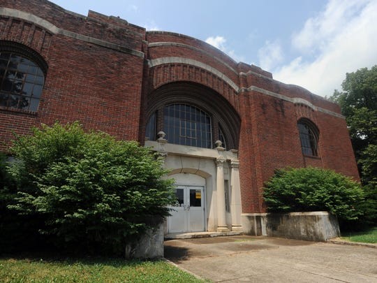 The armory sits in the middle of Yoctangee Park and