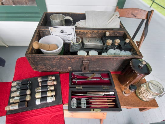 John Ream's collection of Civil War medicine while