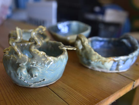 A sample of ceramic bowls created by Kewaunee County