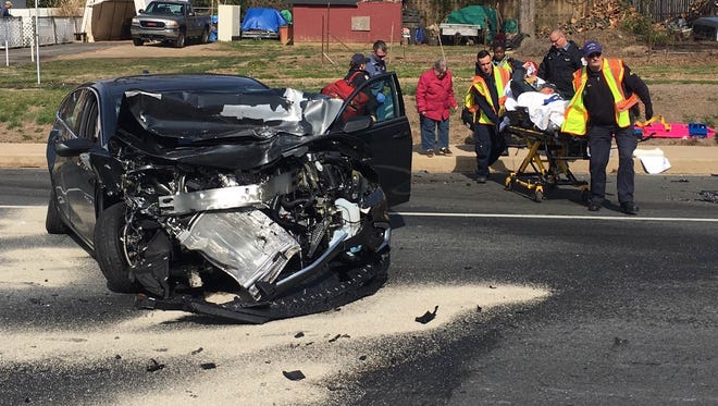 A 92-year-old man was injured when a Newark man in a Nissan Pathfinder allegedly collided with his Chevy Malibu on Monday, police said. Officials suspect alcohol was a factor in the crash.