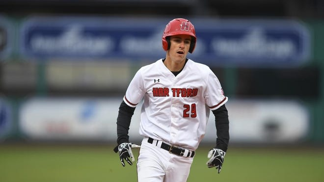 Donnie Cohoon has picked up a lot of playing time platooning in right field for the University of Hartford baseball team. [Courtesy photo}