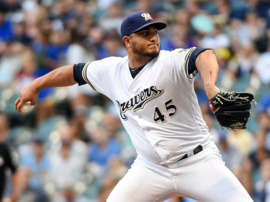 Brewers pitcher Jhoulys Chacin.
