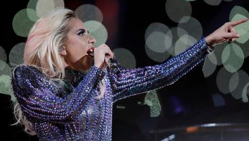 Singer Lady Gaga performs during the halftime show of the NFL Super Bowl 51 football game between the New England Patriots and the Atlanta Falcons, Sunday, Feb. 5, 2017, in Houston.