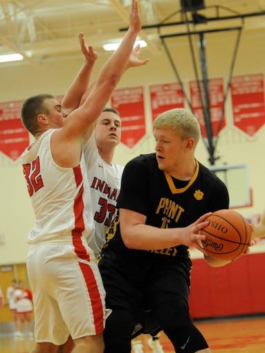 Paint Valley's Dylan Swingle looks for an open teammate